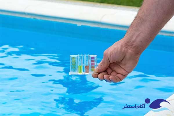 عکس تعادل PH آب استخر