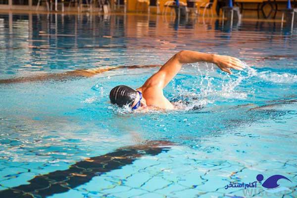عکس افزایش قدرت و استقامت با شنا