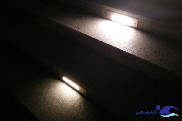 عکس چراغ های توکار پله ای