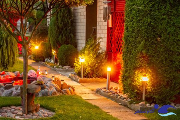 نمونه چراغ های حیاطی و باغچه ای